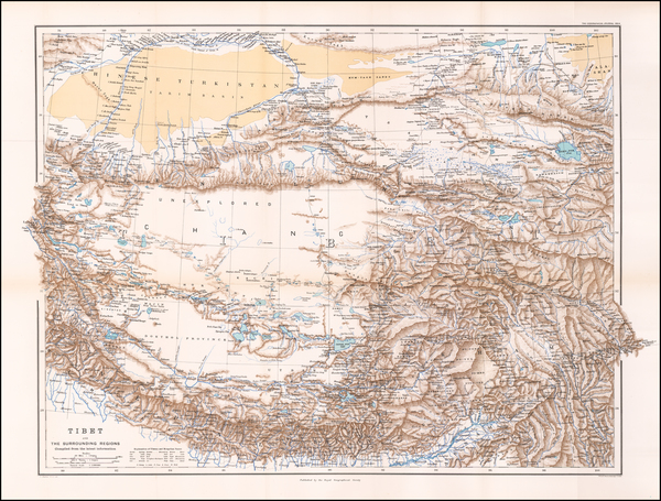 6-India and Central Asia & Caucasus Map By Royal Geographical Society