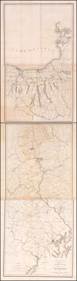 63-New York State, Washington, D.C. and Pennsylvania Map By Arthur J. Stansbury
