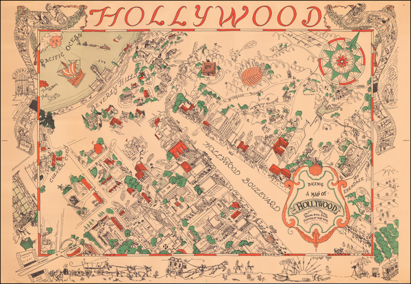92-California and Los Angeles Map By Harold W Grieve