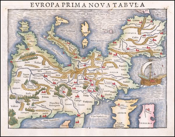62-Europe Map By Sebastian Munster