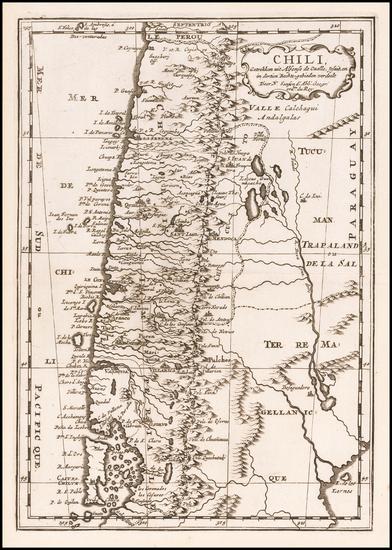 6-Chile Map By Nicolas Sanson