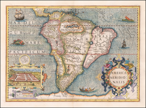7-South America Map By Jodocus Hondius