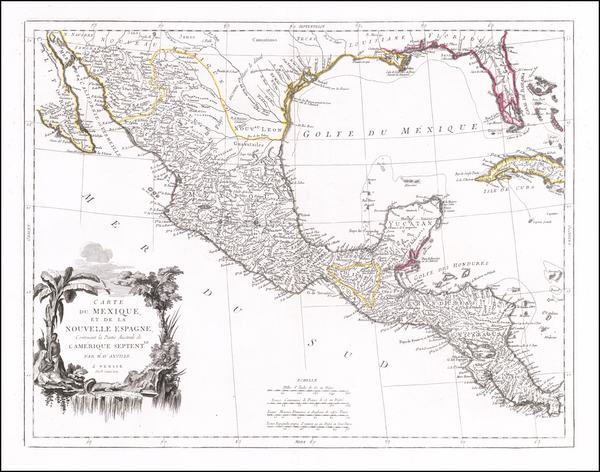 Florida, South, Texas, Southwest and Mexico Map By Paolo Santini