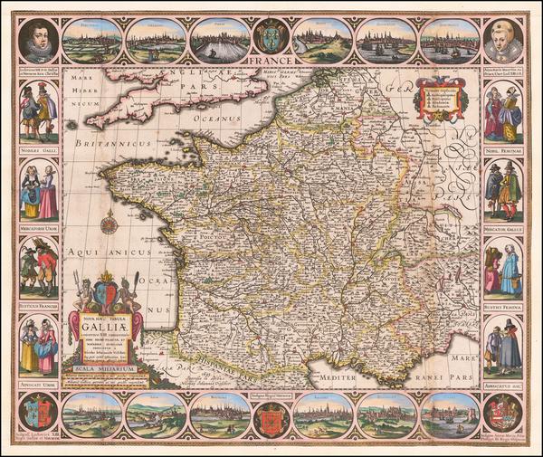 50-France Map By Nicolaes Visscher I