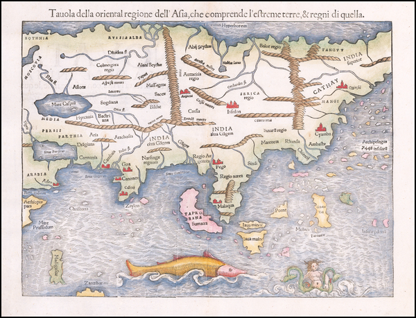 45-Asia Map By Sebastian Munster