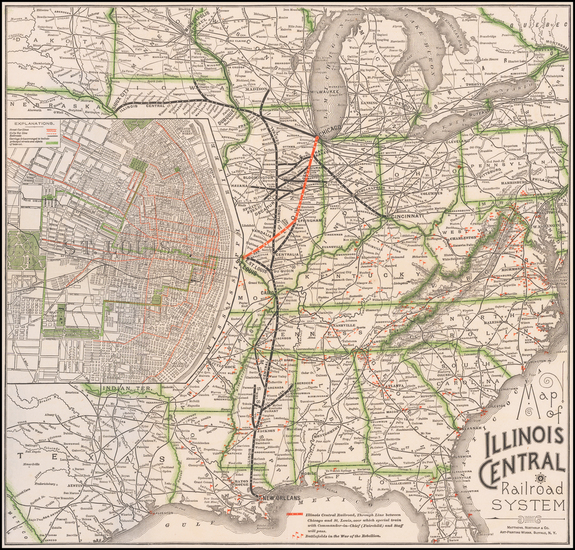 78-United States and Missouri Map By Matthews-Northrup & Co.