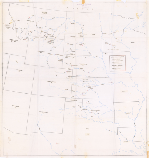 Plains and Rocky Mountains Map By Anonymous