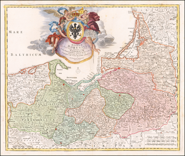 73-Germany, Poland and Baltic Countries Map By Johann Baptist Homann