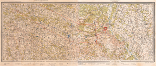 14-Ukraine and World War II Map By Soviet Office of Military Topographers