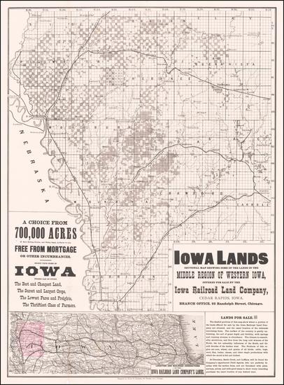 97-Iowa Map By Henry S. Stebbins