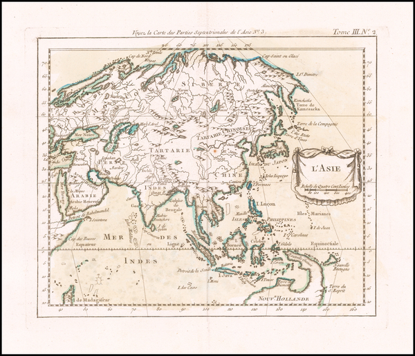 50-Asia Map By Jacques Nicolas Bellin