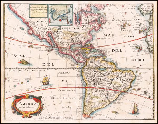 95-America Map By Matheus Merian