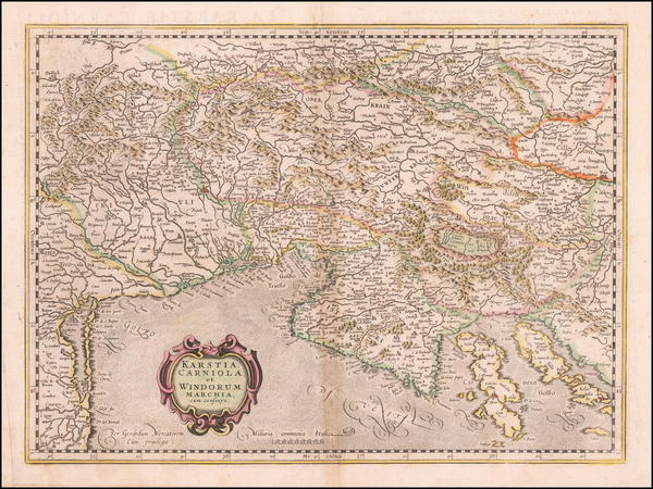 77-Croatia & Slovenia and Northern Italy Map By Gerhard Mercator