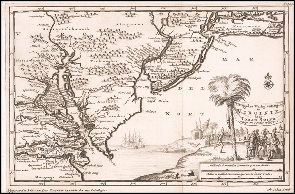 98-Mid-Atlantic and Southeast Map By Pieter van der Aa