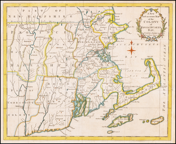 73-New England, Connecticut, Massachusetts and Rhode Island Map By Universal Magazine
