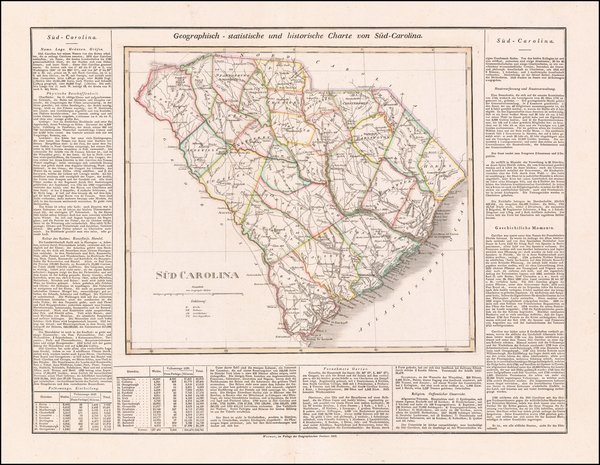 South Carolina Map By Carl Ferdinand Weiland