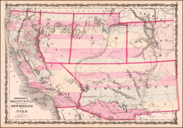 Map Of Southwest Arizona.Antique Maps Of Arizona Barry Lawrence Ruderman Antique Maps Inc