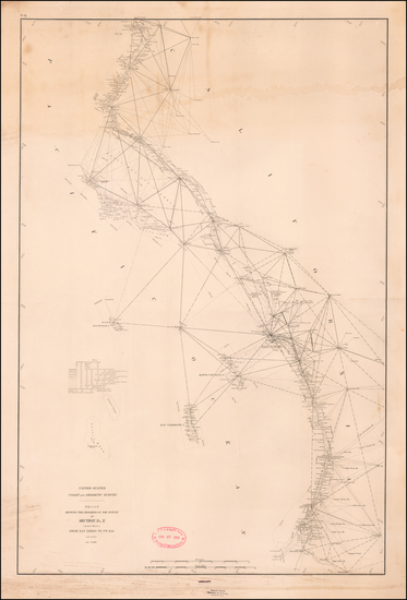 77-California and San Diego Map By U.S. Coast & Geodetic Survey