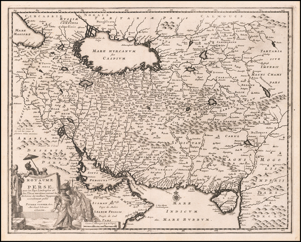 61-Middle East and Persia Map By Pieter van der Aa