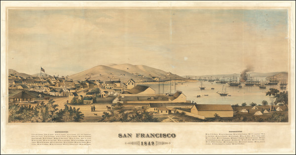 90-San Francisco Map By Henry Firks