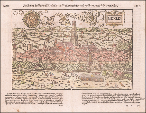 Germany Map By Sebastian Münster