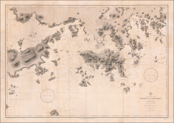 69-Hong Kong Map By U.S. Navy Hydrographic Office