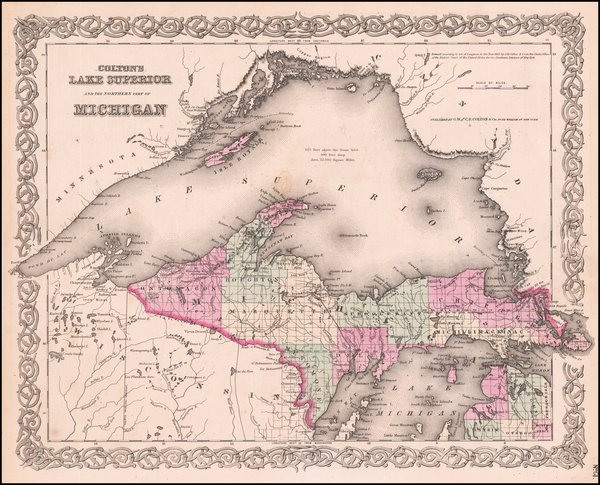 79-Midwest and Michigan Map By Joseph Hutchins Colton