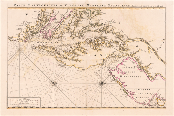 17-Mid-Atlantic, New Jersey, Maryland, Delaware, Southeast and Virginia Map By Pieter Mortier