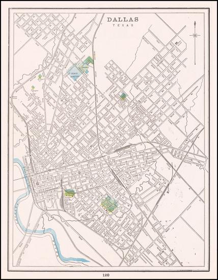 24-Texas Map By George F. Cram