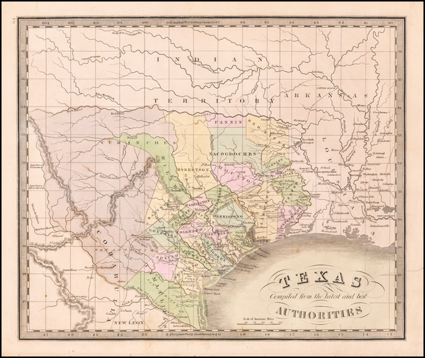 60-Texas Map By Jeremiah Greenleaf