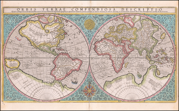 36-World Map By  Gerard Mercator