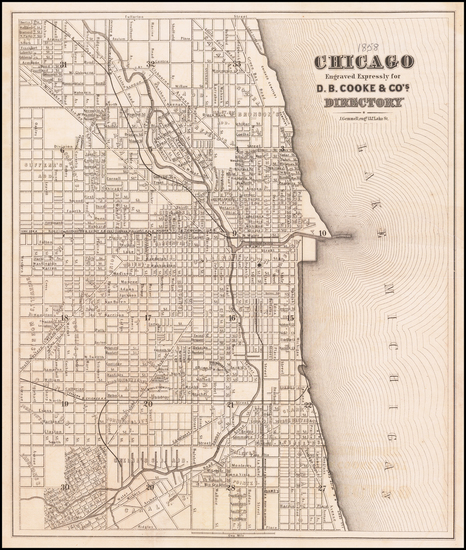 67-Chicago Map By D.B. Cooke & Co.