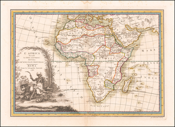Africa Map By Giovanni Maria Cassini