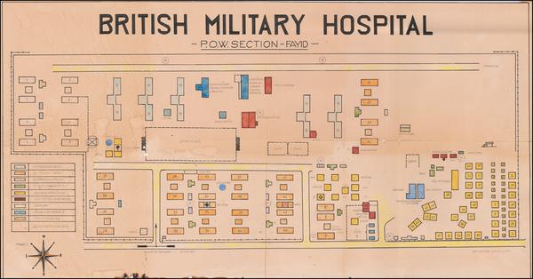 81-Egypt and World War II Map By Schültz