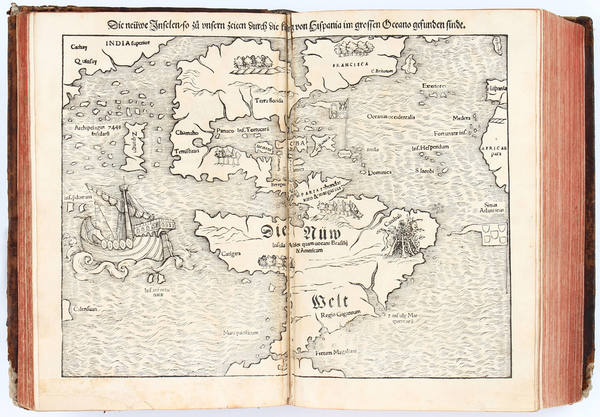 68-Atlases and Rare Books Map By Sebastian Munster