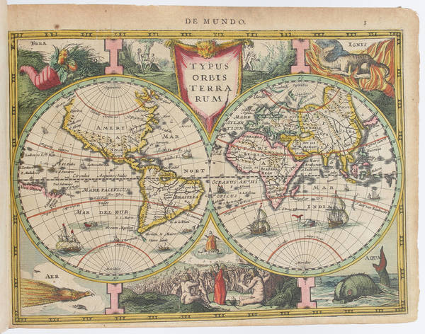 Atlases Map By Jodocus Hondius  &   Gerard Mercator