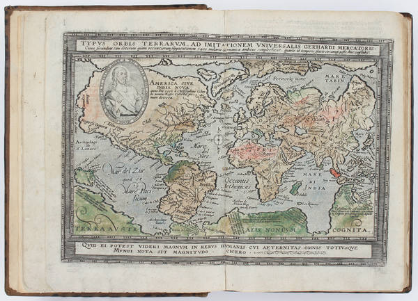 26-Atlases Map By Matthias Quad  &  Johann Bussemachaer