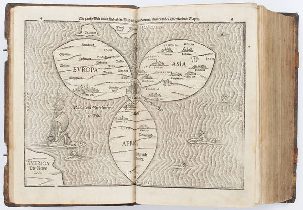 2-Atlases and Rare Books Map By Heinrich Bunting