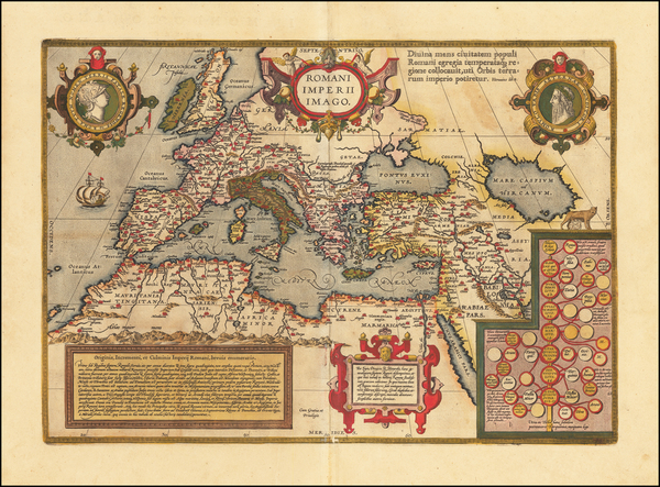 8-Europe, Italy, Mediterranean and Turkey & Asia Minor Map By Abraham Ortelius