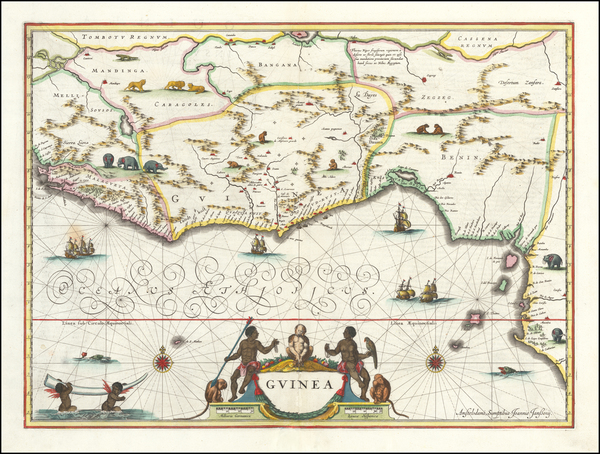 West Africa Map By Willem Janszoon Blaeu