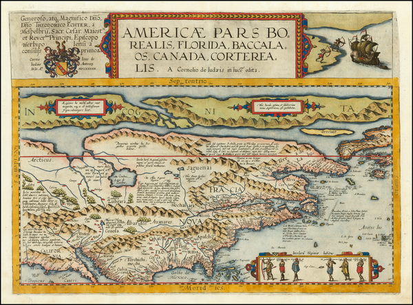 92-United States and North America Map By Cornelis de Jode