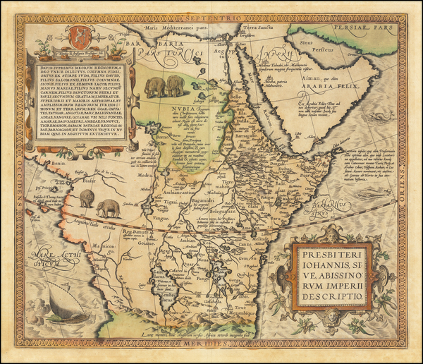 26-Africa, East Africa and West Africa Map By Abraham Ortelius