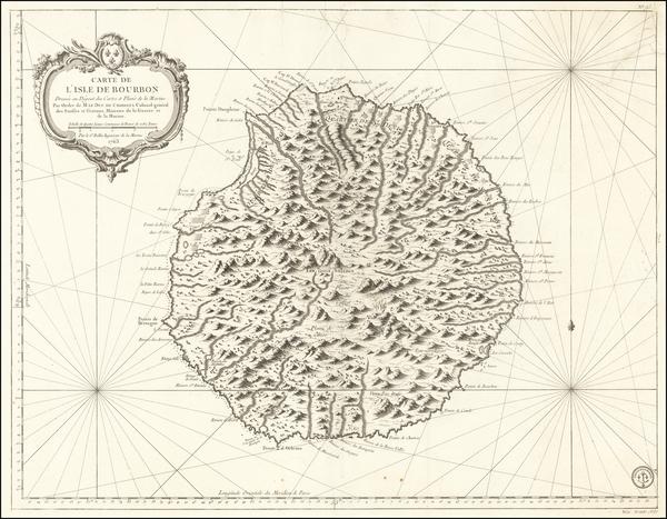 58-African Islands, including Madagascar Map By Depot de la Marine