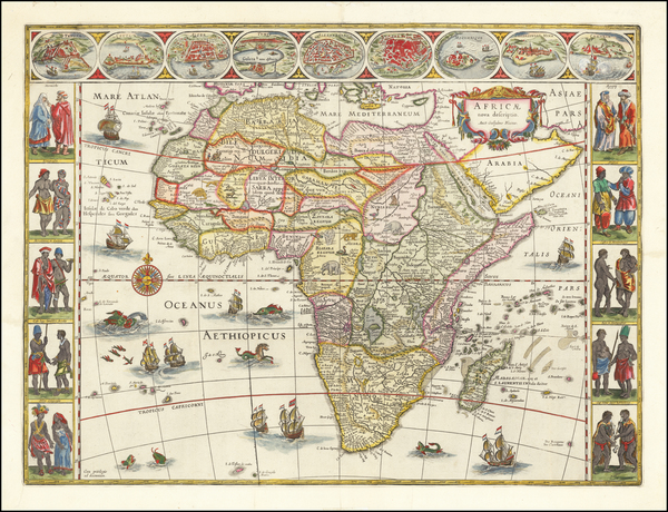8-Africa Map By Willem Janszoon Blaeu