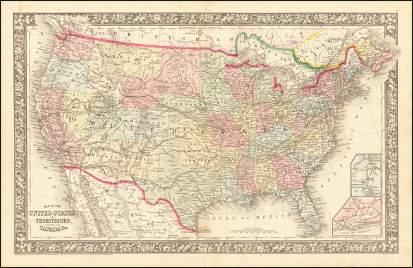 99-United States Map By Samuel Augustus Mitchell Jr.