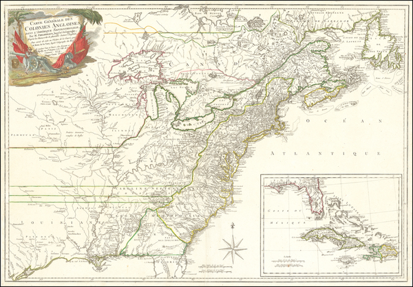 74-United States, New England, Mid-Atlantic, South, Southeast and Midwest Map By Rene Phelippeaux