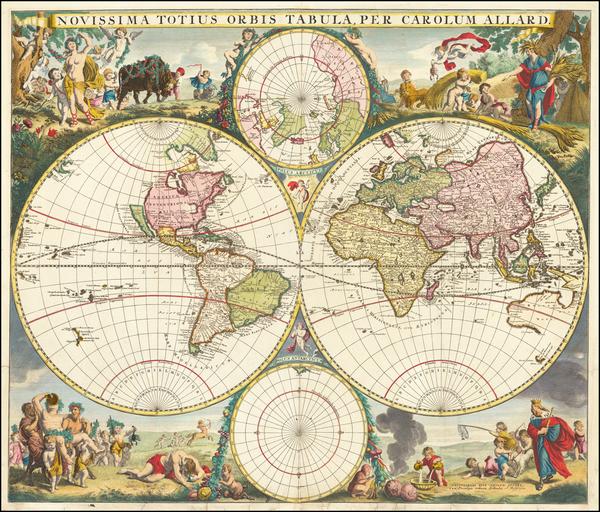 World and World Map By Carel Allard