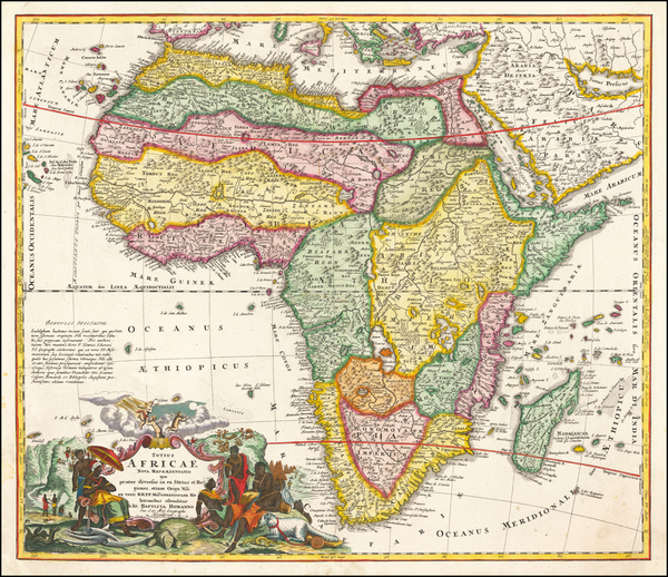 53-Africa Map By Johann Baptist Homann
