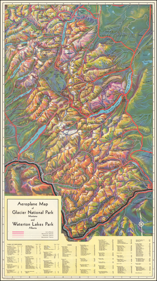 74-Rocky Mountains and Montana Map By McGill-Warner Co.