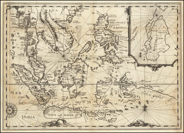 4-Southeast Asia, Philippines, Indonesia, Malaysia and Thailand Map By Joris van Spilbergen